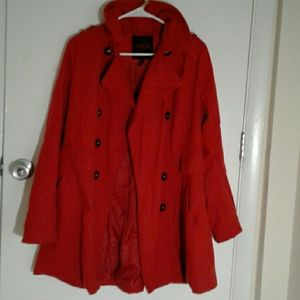 Hot red winter jacket